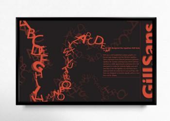 Print Gill Sans Poster 1